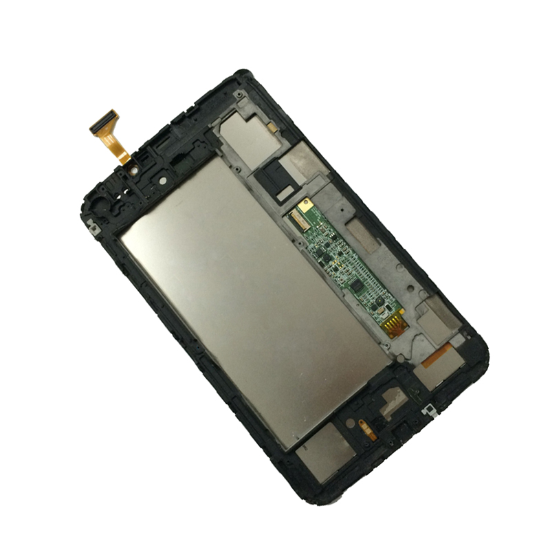 2 Color For Samsung Galaxy Tab 3 7.0 SM-T211 T211 Full Touch Screen Digitizer + LCD Display Panel Monitor Assembly with Frame for samsung galaxy j5 j500 lcd display with touch screen digitizer assembly with frame blue gold tools free shipping