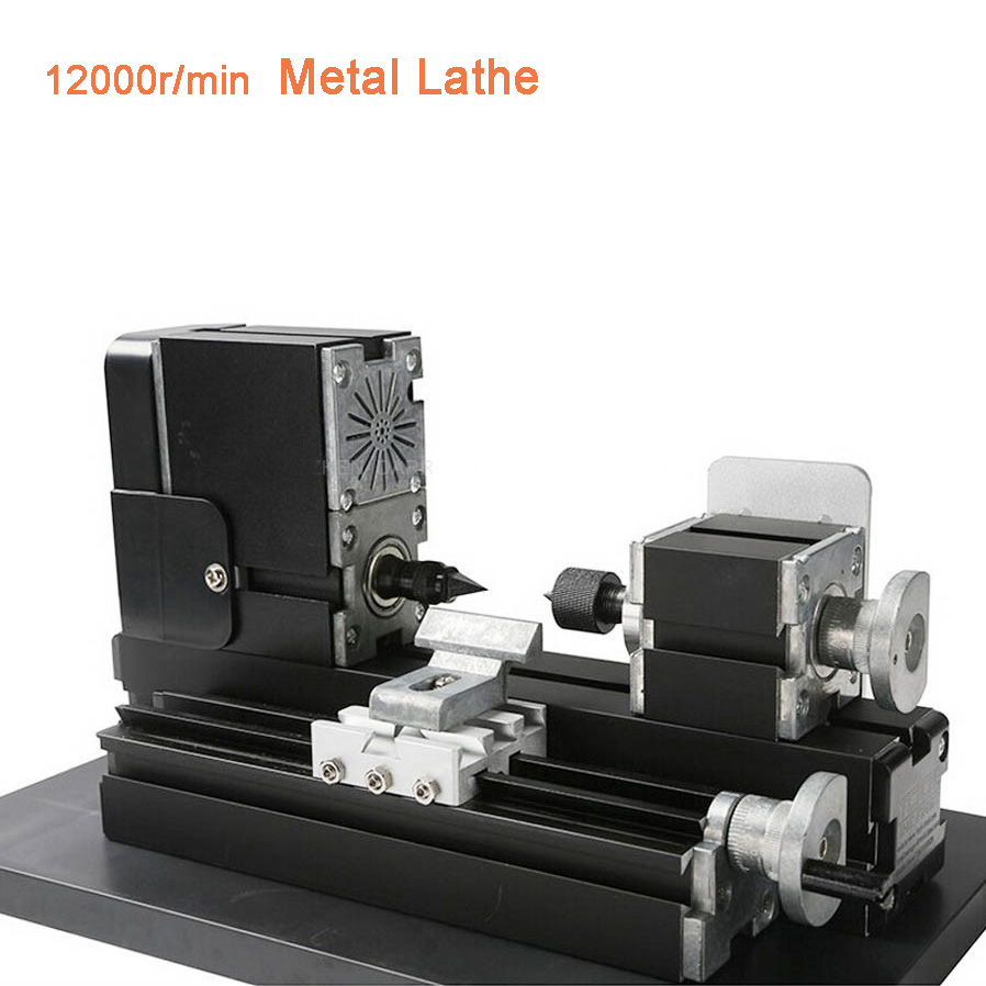 Mini Lathe Machine 12000r/min 110V 240V Saw Workbench Area 90*90mm Tool Metal Plate