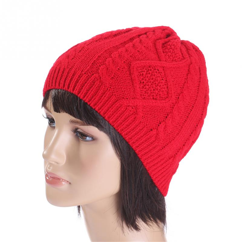 74ae0f007d1553 New Winter Hats Unisex Women's Cotton Solid Warm Hot Sale HIP HOP Knitted  Hat Female For