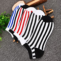 5 pairs men happy cotton stripes men's socks Colorful Series meias masculinas Male Shallow Mouth Socks