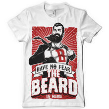 mens have no fear the beard is now superhero movember funny t shirtNew T Shirts Funny Tops Tee New Unisex