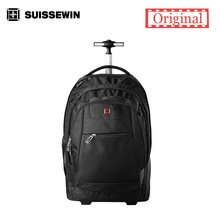 Brand Swiss Wheeled Laptop Backpack For Business Travel Rolling Trolley swissgear wenger Backpack for 17 3