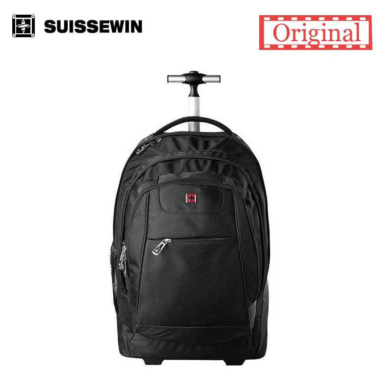 Brand Swiss Wheeled font b Laptop b font Backpack For Business Travel Rolling Trolley swissgear wenger