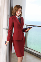 Formal Uniform Designs Skirt Suits With Jackets + Skirt + Vest & Waistcoat +Blouses With Tie for Ladies Office Work Wear Sets