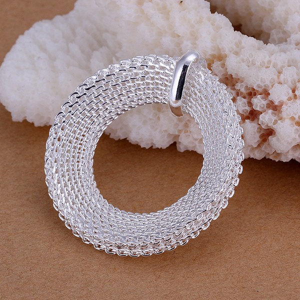 GNIMEGIL Round Circle Pendant Necklace+Mesh Stud Earrings Jewelry Sets for Party Women Christmas Party Jewelly Gifts