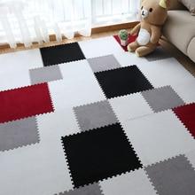 2019 New Foam Puzzle Mat EVA Shaggy Velvet Baby Eco Floor 7colors for Living Room Tapetes Para Casa Sala 30*30cm Kids Carpet
