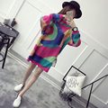 [XITAO] 2016 new arrival autumn women's long sleeve sweater Korean fashion female pullover Round collar long sweater HHY005