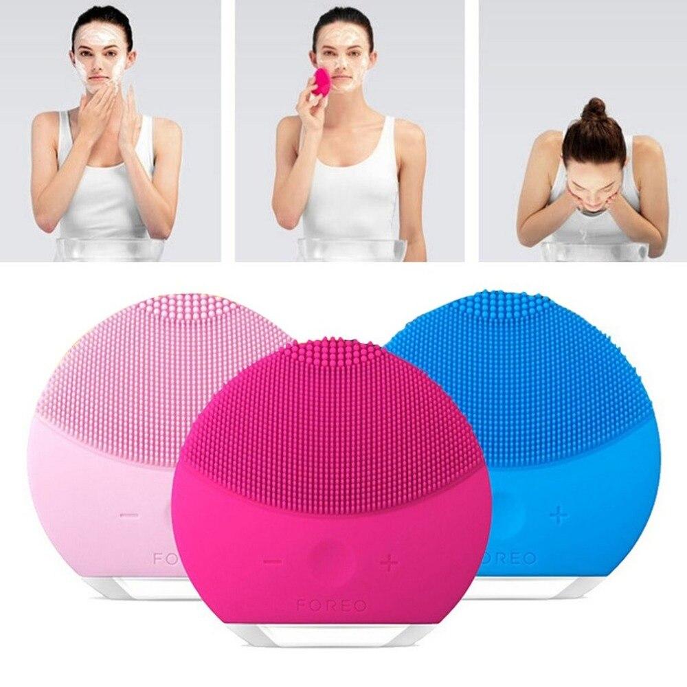 Wiederaufladbare Elektrische Gesichtsreinigung Gerät Wasserdichte Silikon Gesichtsreiniger Mitesser Akne Entfernung Dusche Gesichtsreinigungsmittel
