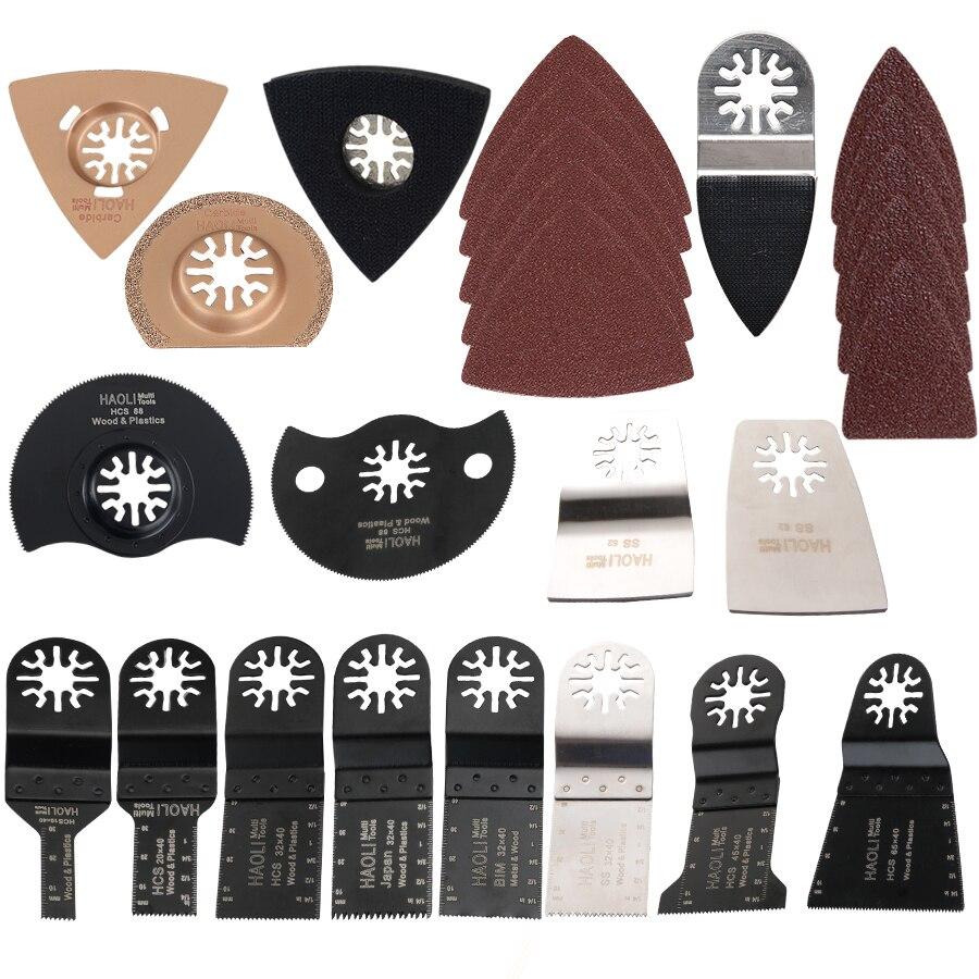 Cuchillas de sierra de herramienta oscilante populares de 66 piezas para herramientas eléctricas de renovación como Fein multimaster, Dremel, accesorios de herramientas eléctricas