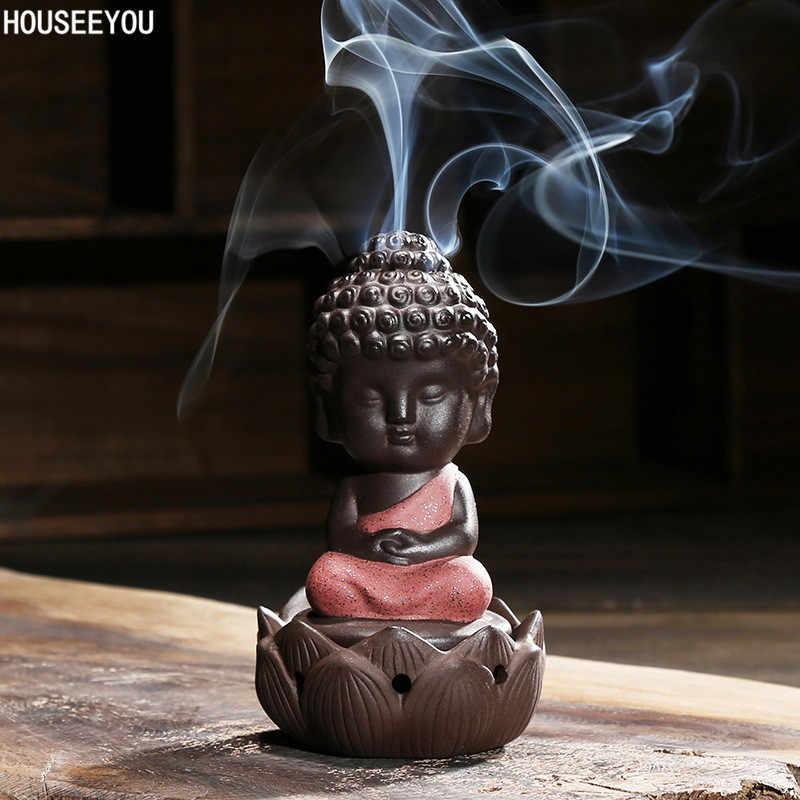 Керамическая благовония статуя Будды ладан Burnera плита диск ладан Держатель плита сандаловое дерево домашний декор Joss палочка Будда орнамент