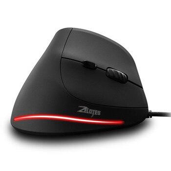 Зелот T-20 Вертикальная Проводная игровая мышь беспроводная Мышь для рабочего стола 6 пуговиц светодио дный Мышь мыши 3200 Точек на дюйм Мышь ...