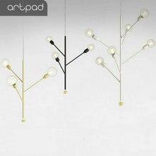 Post-Modern Black/White/Gray/Rose Gold/Gold Pendant Light Tree Branch Luxury LED Indoor Hanging Lamps for Living Room Bedroom