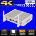 Eglobal 2017 mais novo 5005u mini computador core i3 i3 barebone mini pc fanless pc usb3.0, 4 k HTPC HDMI + VGA windows 10, win8, linux