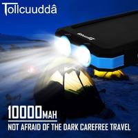 CNPOWER Original Tollcuudda Solar Power Bank 10000MAH Charger Poverbank Carregador Battery To Phone For Xiaomi Max2