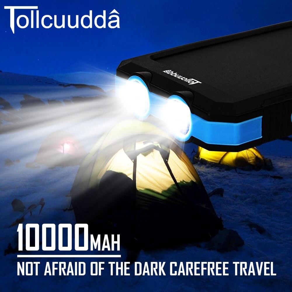 imágenes para Tollcuudda CNPOWER Original Banco de la Energía Solar 10000 MAH Cargador de Batería para Teléfono Para Xiaomi Carregador Poverbank Max2 LJJ629