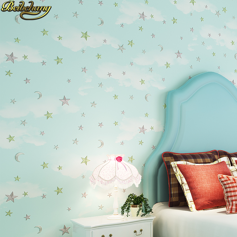 beibehang papel de parede 3D star wallpapers for children's room Wall Paper Roll living room Bedroom wallpaper for kids room shinehome black white cartoon car frames photo wallpaper 3d for kids room roll livingroom background murals rolls wall paper