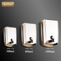 XOXOStainless steel bathroom wall hanging wall hand lotion bottle box for liquid liquid soap to wash your hands