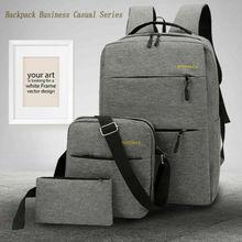 Unisex Anti-Theft bag Backpack Travel Business School Bag Rucksack +USB Port