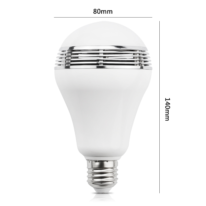 UYG E27 անլար Bluetooth Bluetooth խելացի LED լամպ - Դյուրակիր աուդիո և վիդեո - Լուսանկար 2