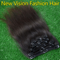 Raw Brazilian Hair Clip In Hair Extensions Human Hair Clip In Extensions Straight African American Clip In Human Hair Extensions