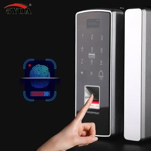 Image 4 - Glass Fingerprint Lock Digital Electronic Door Lock For Home Anti theft Intelligent Password RFID Card Standalone Opener Smart