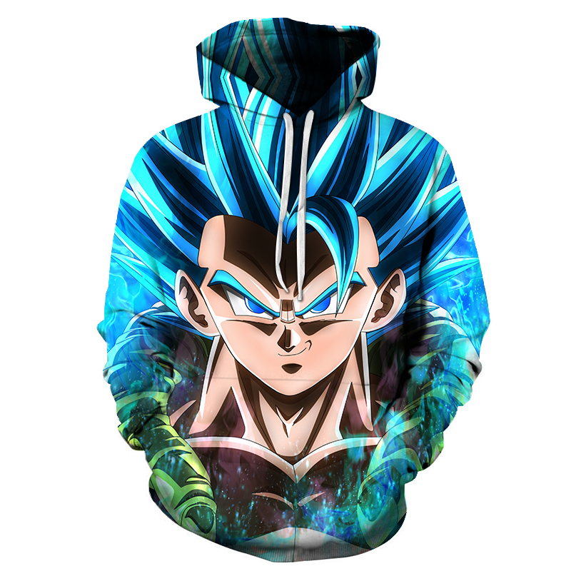 Men's 3D hoodie dragon ball pocket hoodie hot 3D animated pullover sportswear youth long-sleeved jacket Asian size s-6xl