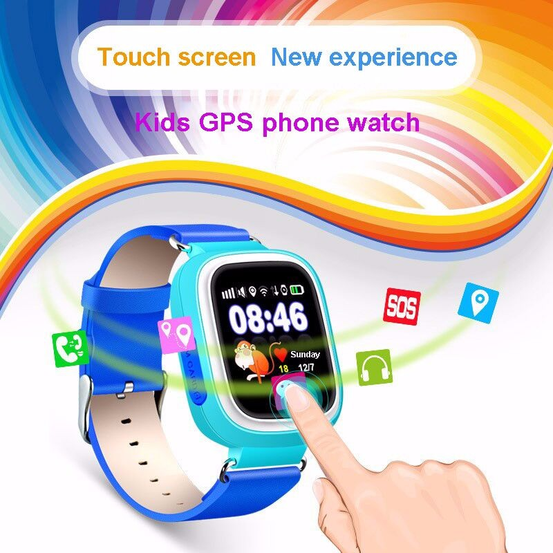 ФОТО 2016 latest gps smart watch baby q90 touch screen sos call location devicetracker for kid safe anti-lost monitor pkq80