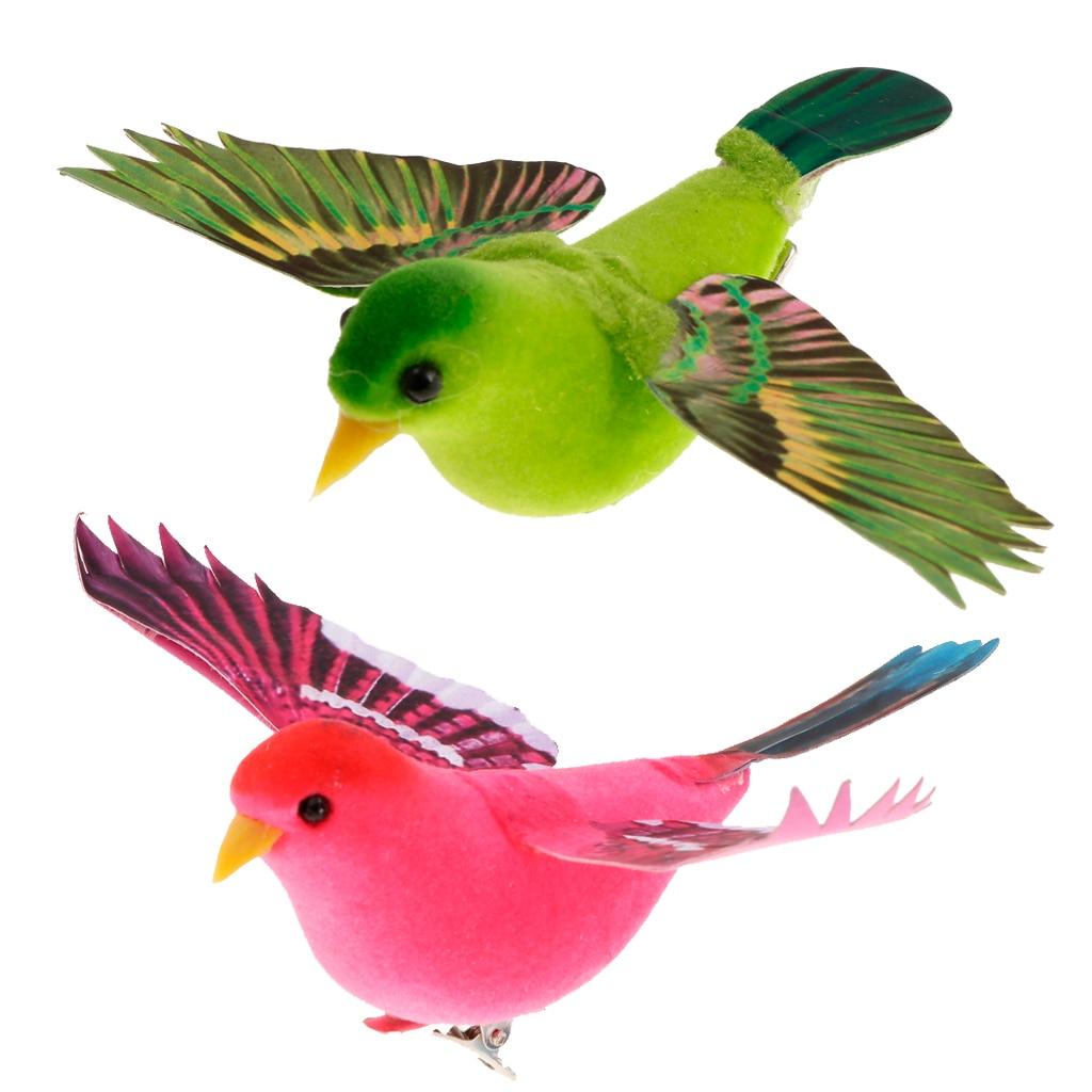 Spreading Winds Artificial Feathered Foam Birds Home Garden Sculptures Wedding Decor Home Garden Decorations