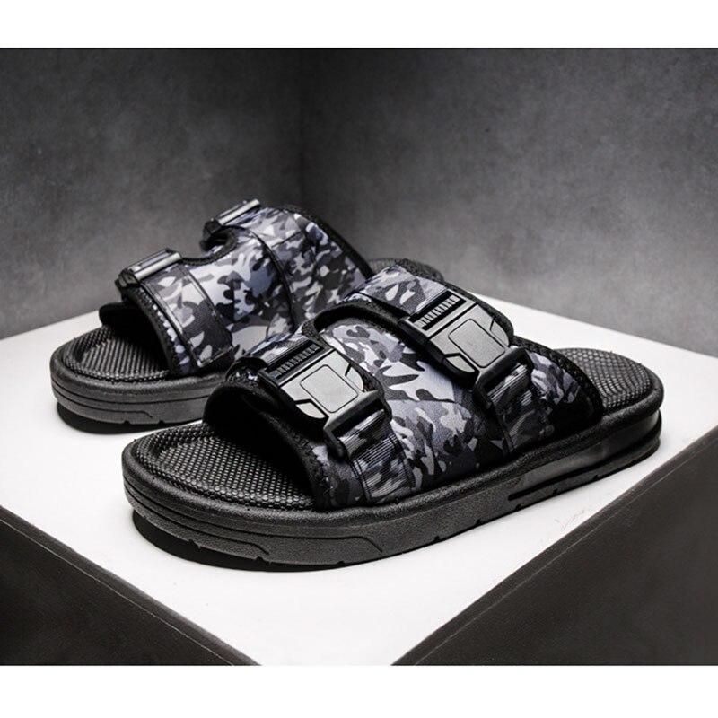 Summer Shoes Men Beach Sandals Lightweight Soft Slippers Camouflage Flip flops Male Outdoor Anti slip Zapatillas Sandalias in Men 39 s Sandals from Shoes