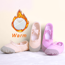 Children Kids Warm Canvas Dance Shoes Girls Women Gymnastics Fitness Slippers Autumn Winter Ballet