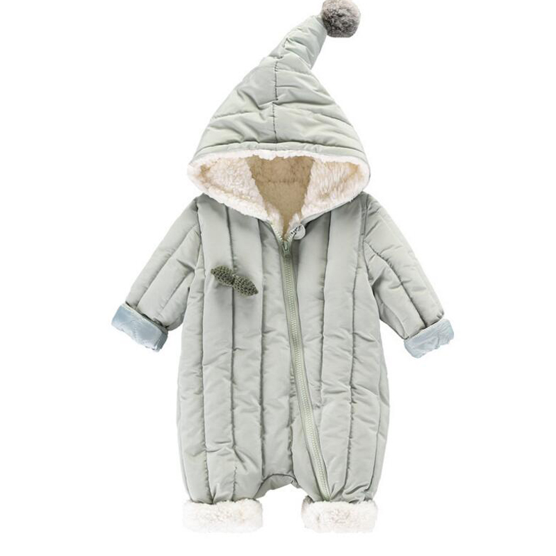 2018 Newborn Baby Romper Costume Baby Boy Clothes Girls Winter Long Sleeve Baby Rompers Jumpsuit Cartoon Hooded Infant Jumpsuit cute back wings baby rompers long sleeve gray white cotton kids boy girls romper jumpsuit infant baby autumn clothes outfits