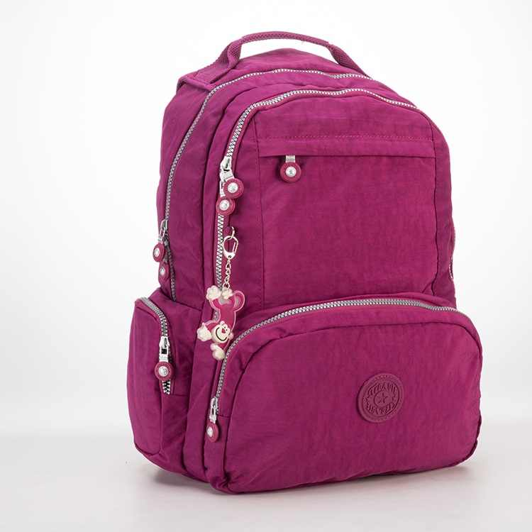 Tegaote Ransel Sekolah Ransel untuk Gadis Remaja Mochila Feminina Escolar Nilon Perjalanan Laptop Bagpack Wanita Sac Dos