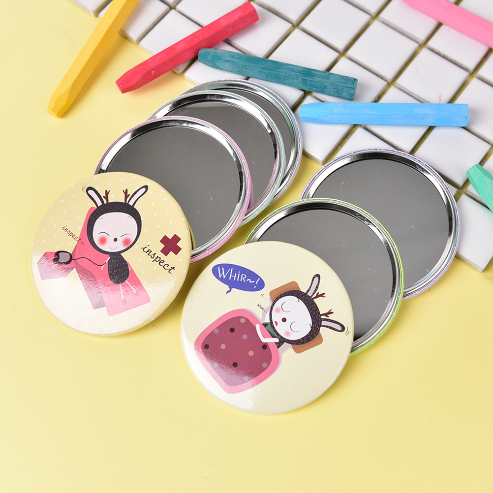 Spiegel Nette Schöne Mini Taschenverfassungsspiegel Kosmetische Kompakte Metall Spiegel Farbe Zufällig Dia 7 Cm Mit Traditionellen Methoden