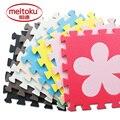 Meitoku puzzle de espuma eva esteira do jogo do bebê/10 pçs/lote encravamento tapete exercício, por 30 cm x 30 cm 1 6cmthick