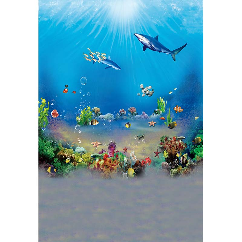 Deep sea creatures photography backdrops vinyl background for kids holiday photo studio photography background props photophone kidniu scenery photography backdrops trees lake photo props wallpaper winter snow vinyl background for studio 9x5ft win1403