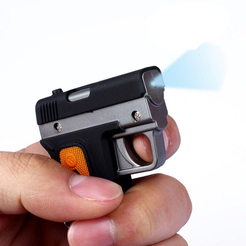 1 шт./лот Лидер продаж игрушечный пистолет Форма led брелок мальчика игрушка фонарик брелок для Ключи кольцо игрушки для подарка