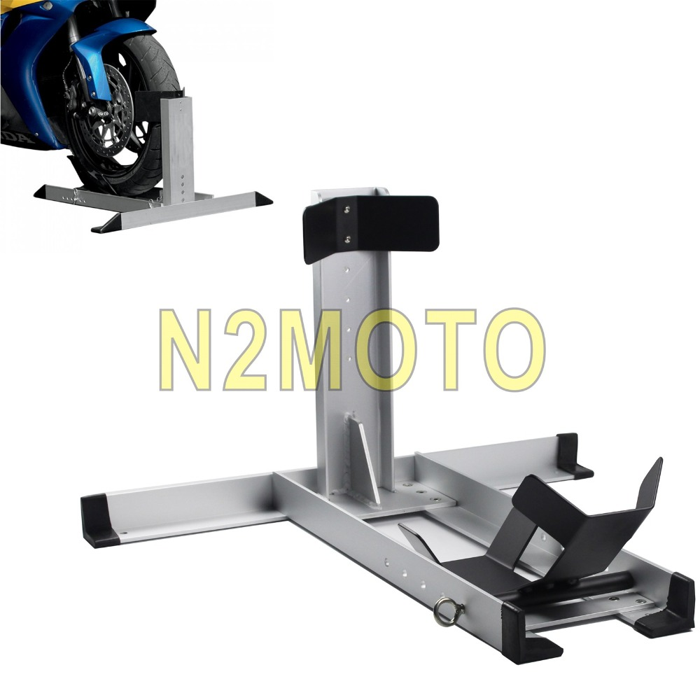 "Motorcycle Custom Chopper Wheel Chock Floor Stand Trailer Chock Support Holder for Harley Touring Cafe Racer 14""-22"" Wheel"