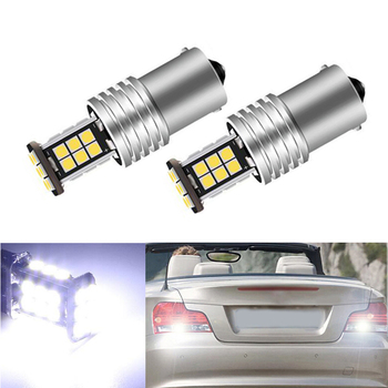 2x New White 1156 BA15S P21W LED Car Bulb Reverse Light for BMW 3/5 SERIES E30 E36 E46 E34 X3 X5 E53 E70 Z3 Z4 image