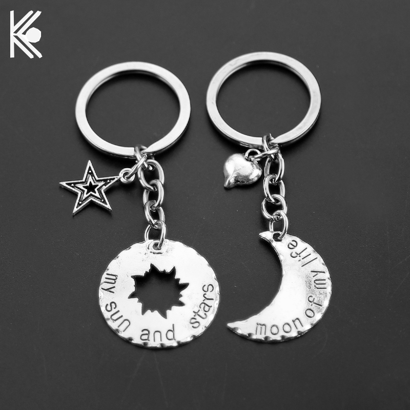 Game Of Thrones Keychains Moon of My Life, My Sun and Stars House Stark Keyring Winter Is Coming Lovers Anniversary Gift