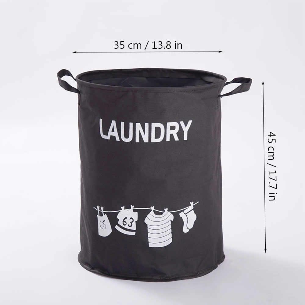 Shushi オックスフォード折りたたみ汚い布バスケットおもちゃ子供布収納オー物用かご防水洗濯バケツハンドル