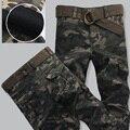 Otoño Invierno Espesar Caliente Pantalones Cargo de Los Hombres Del Ejército Militar Camuflaje Tractical Pant Pantalón de camuflaje Manera de la Alta Calidad Más El Tamaño 38