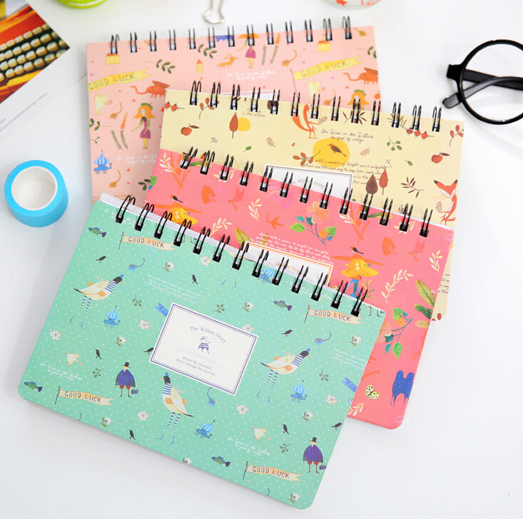 Creative Animals And Plants Coil Planner Journal Record Notebook Diary Book Exercise Notepad Escolar Papelaria Gift