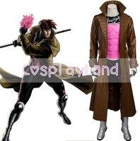 Gambit Cosplay Costume Adult Halloween Costumes For Men Superhero Costume Xmen Avengers Cosplay Costume Gambit Suit Custom Made