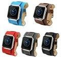 Maha cuff muñequera de cuero doble gira para fitbit incendio smart watch tracker, tipo de pulsera Azul/Marrón/Rojo/Gris/Negro