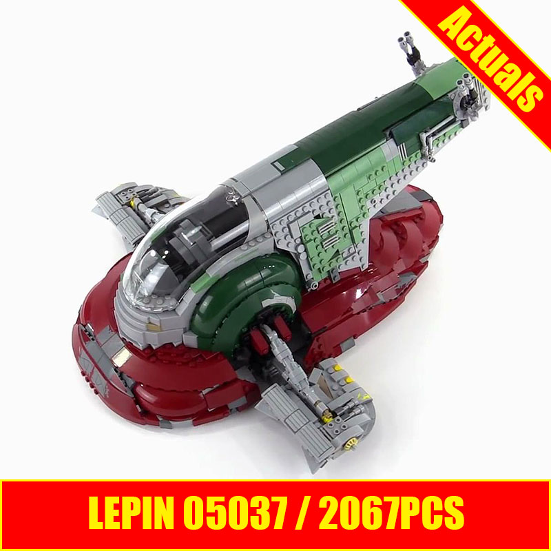 LEPIN 05037 2067pcs Star Wars Slave 1 UCS Model Building Kits figures Blocks Bricks Compatible 75060 SHIP BY DHL 05037 star wars ship ucs slave i slave no 1 model building kit block bricks lepin toys kits compatible 75060 children gift