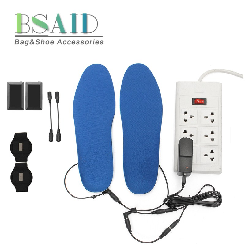 Fggs-electric Heated Shoe Insoles Foot Warmer Heater Feet Battery Warm Socks Ski Boot Without Return Insoles