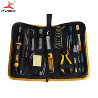 RDEER 15pcs Soldering Iron Set 40W Electric Soldering Iron With Iron Stand Pliers Tweezers Adjustable Welding
