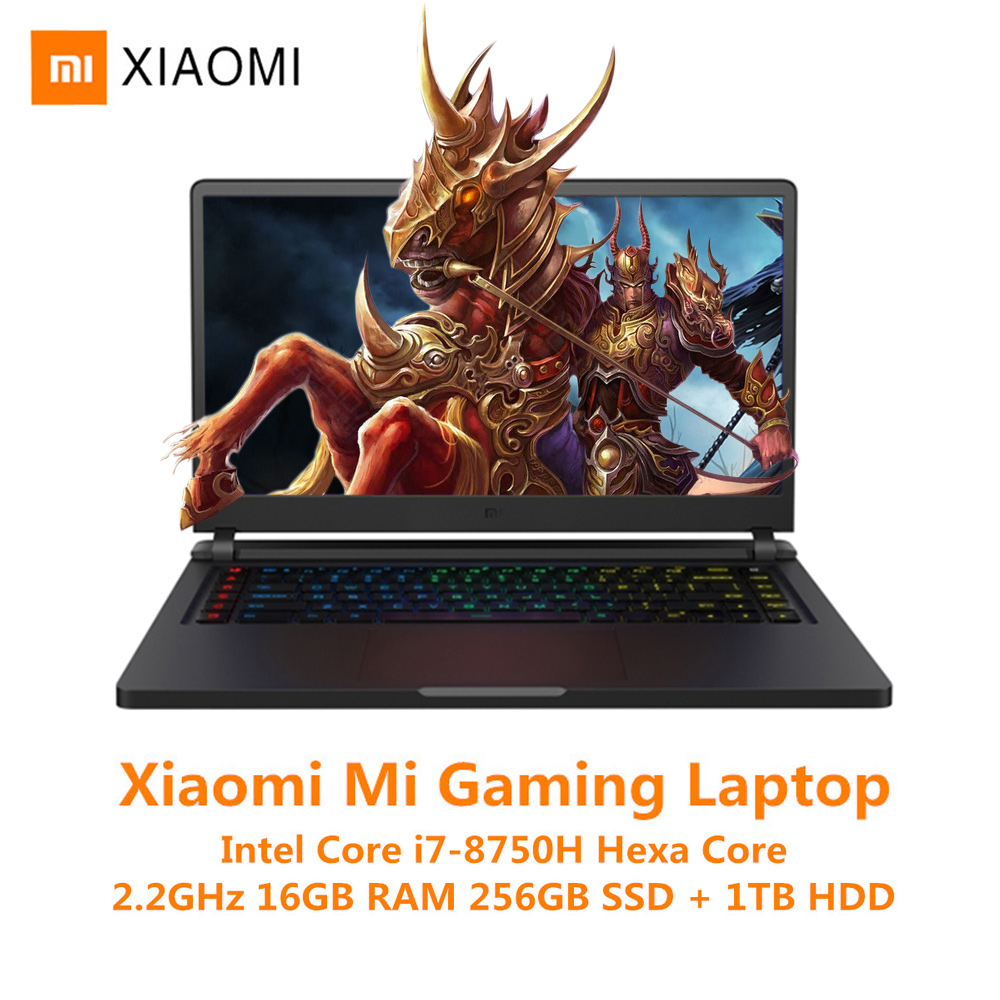 Xiao mi mi Ga mi ng ordinateur portable Windows 10 Intel Core I7-8750H 16 GB RAM 256 GB SSD 1 to HDD HD mi ordinateur portable type-c Bluetooth Ga mi ng ordinateur portable