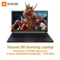 Xiaomi mi Ga mi ng ноутбук с системой Windows 10 Intel Core I7 8750H 16 Гб ram 256 ГБ SSD 1 ТБ HDD HD mi notebook type C Bluetooth Ga mi ng notebook