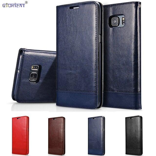 Flip Mappenkasten für Samsung Galaxy S6 SM G9200 6 S SM G920I SM G920FSM G920FD SM G9200 G920i G920F G920FD Luxus leder abdeckung